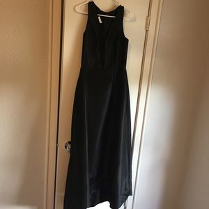 Black Alfred sung high/low dress with pockets